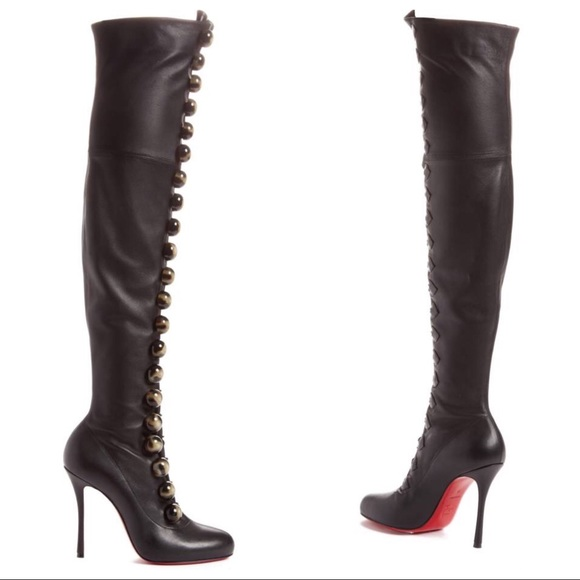 2901233ded40 Christian Louboutin Fabiola Black Leather OTK Boot